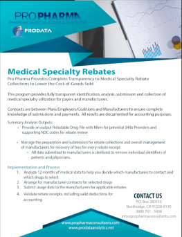 Medical Specialty Rebate