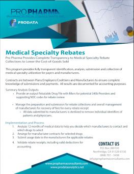 Medical Specialty Rebate