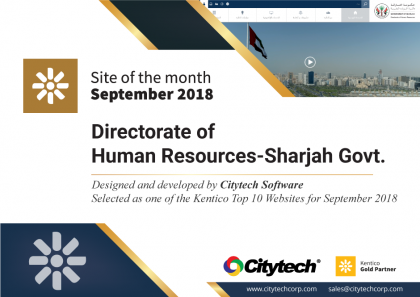 Kentico Site of the Month September 2018