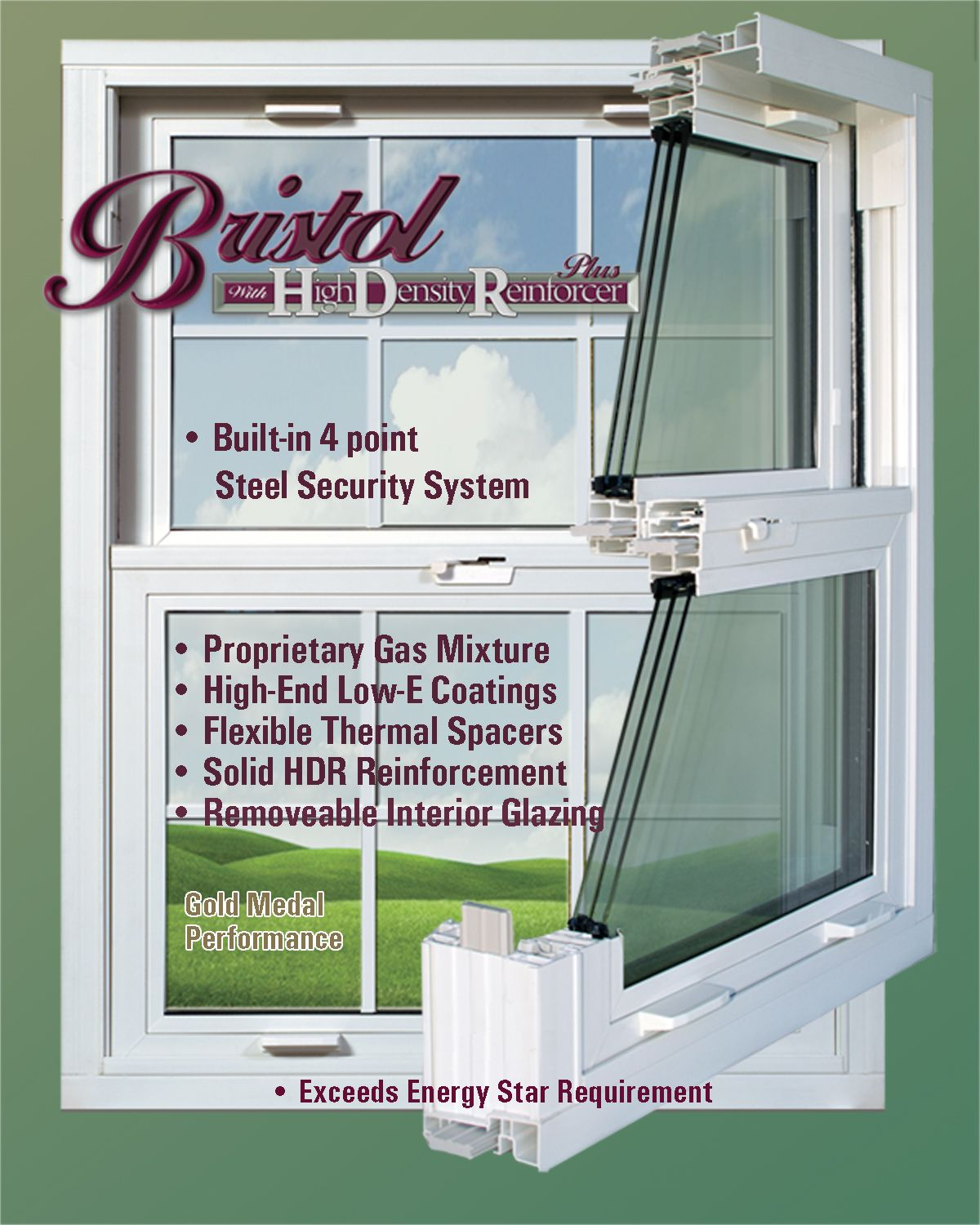 Quality Bristol Windows with Triple Glass, HDR and Q-IV Security System