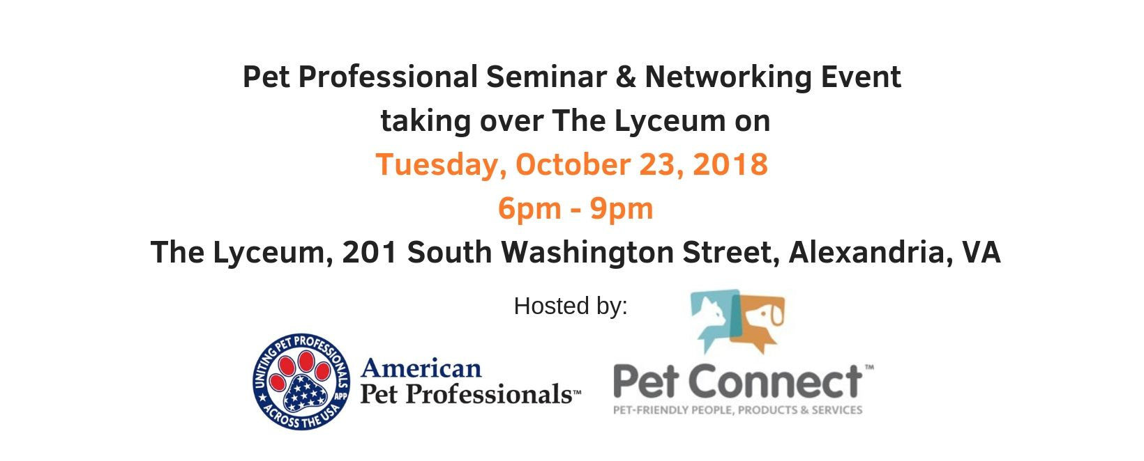 Pet Professional event in Alexandria, VA