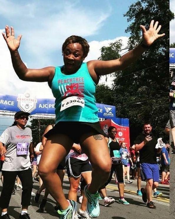Kesha Fairman after completing her last marathon.