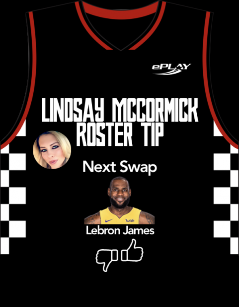 Lindsday McCormick Roster Tip with Lebron