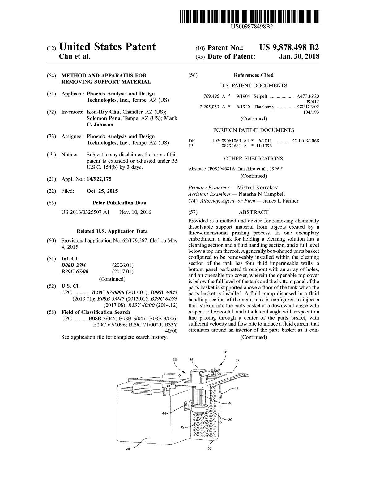PADT Patent US9878498