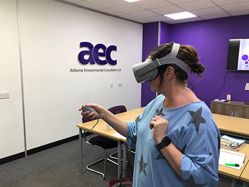Delegate using virtual reality software