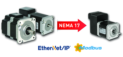 SMD Series integrated stepper motor, drive, controller - NEMA sizes 17-34