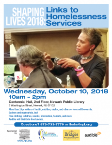 Newark Public Library's Shaping Lives 2018: Links to Homelessness Services Event