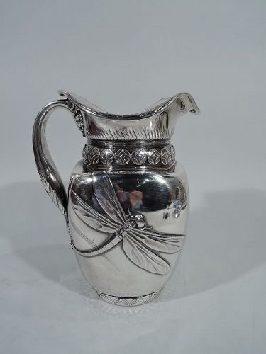 antique sterling silver water pitcher whiting 19th