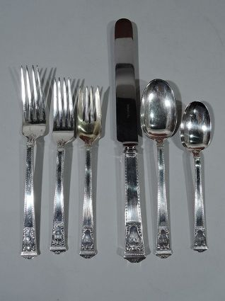 tiffany antique sterling silver rare dinner & lunc