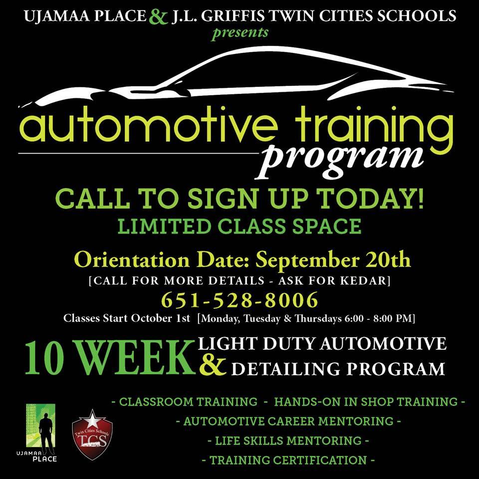Ujamaa Place Automotive Certification Training