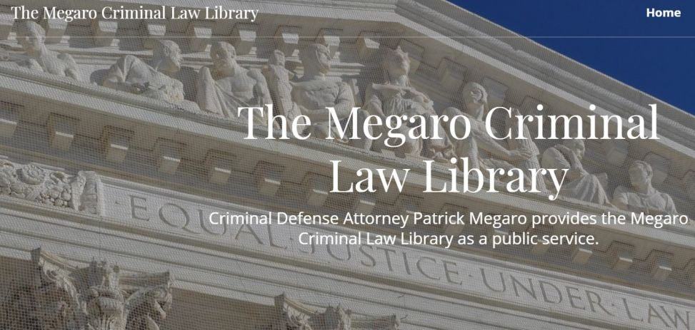 The Megaro Criminal Law Library, Website