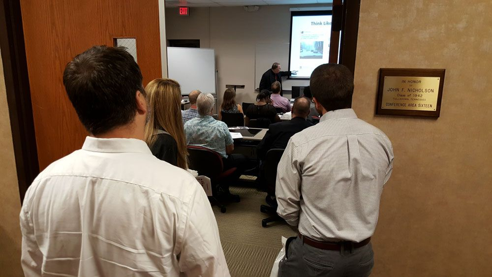 Martin Brossman spoke to a packed crowd at last's years expo