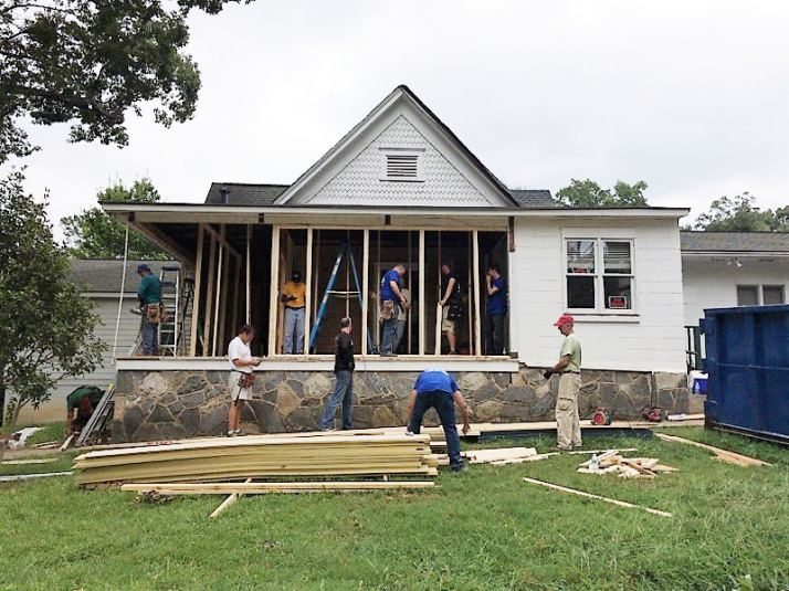Clifton Sanctuary Ministries during renovations