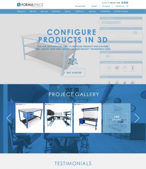 Formaspace New Homepage
