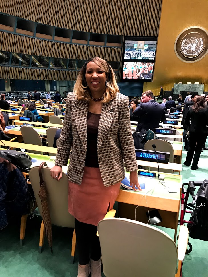 Dr. Crenshaw-Logal on UN General Assembly Floor in NY