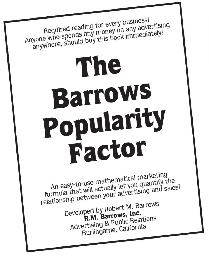 """Download """"The Barrows Popularity Factor"""" booklet for $4.95 at www.barrows.com"""