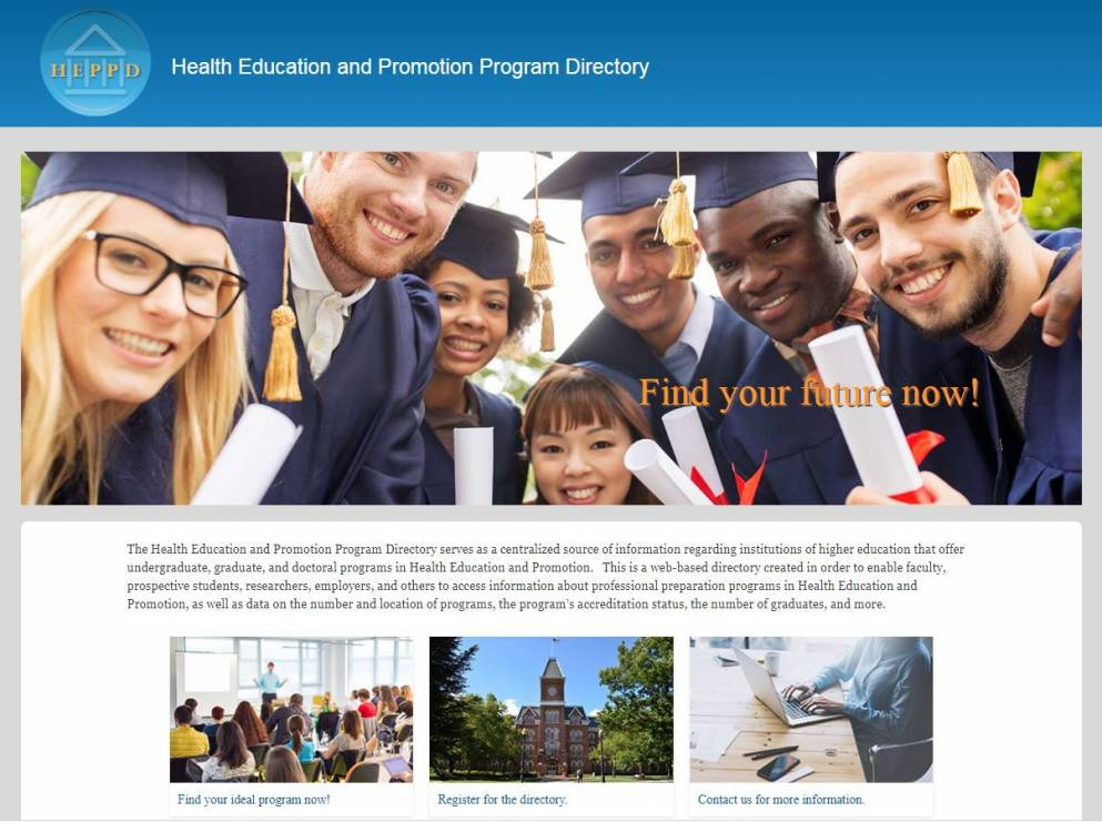 HealthEdDirectory search health education programs easily