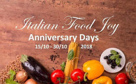 Italian Food Joy Annversary Days 2018 - Retail and Wholesale special offers