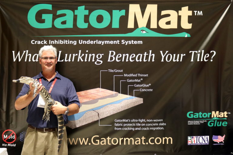 GatorMat®, an underlayment system that protects tile against crack migration.