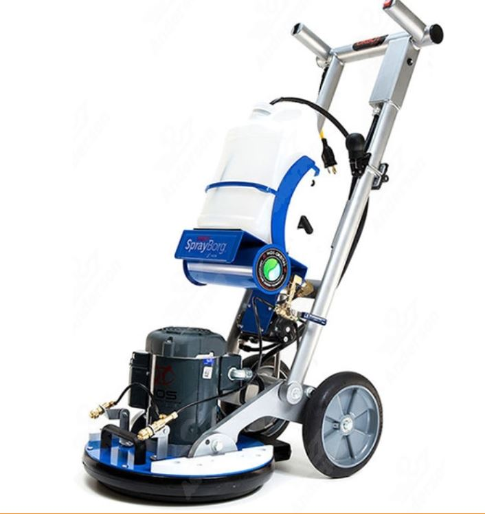 The HOS Orbot SprayBorg Orbital Cleaning System for hard floors & carpets