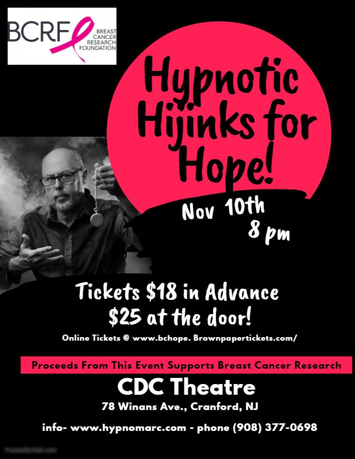Hypnotic Hijinks for Hope - CDC Theatre