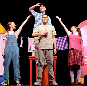 Jigsaw Jones and the Case of the Class Clown cast performing.