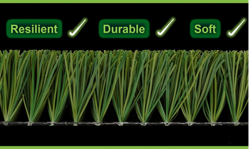 Artificial grass surface plays different functions