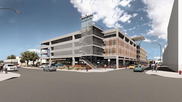 Chandler parking garage rendering