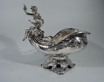 antique sterling silver german centerpiece bowl 19