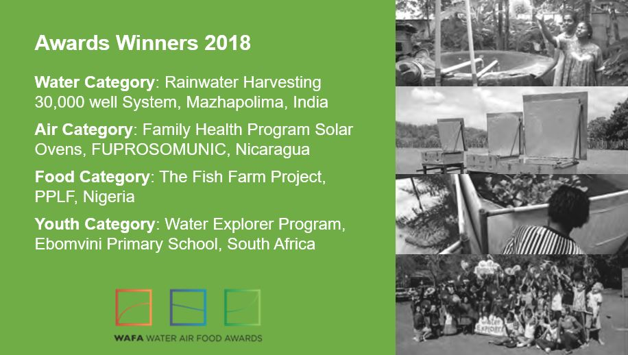 2018 WAFA Winners