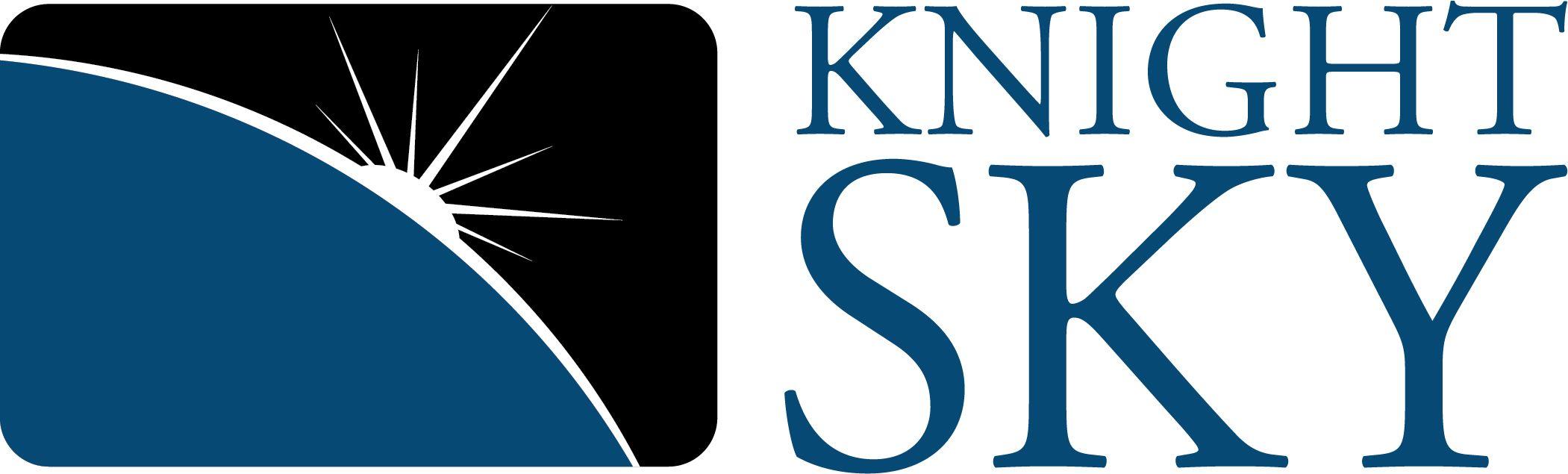 Knight Sky Logo Blue Text