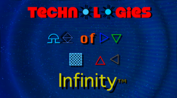 The official logo of Marshall Barnes' Technologies of Infinity, copyright 2018