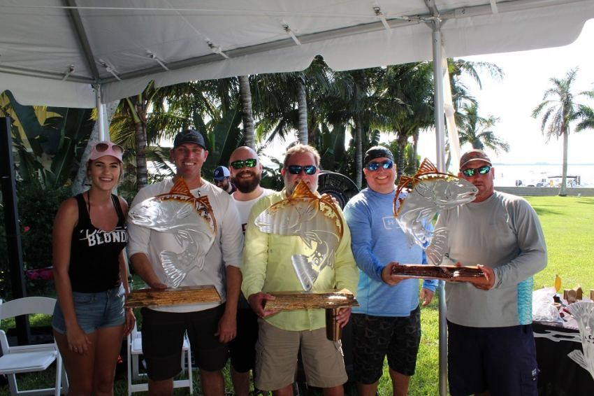 Winning team of the 2018 Redfish Rodeo Fishing Tournament