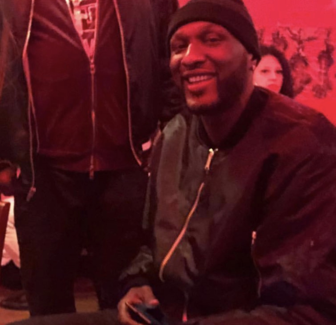 Lamar Odom at Smoking Pie