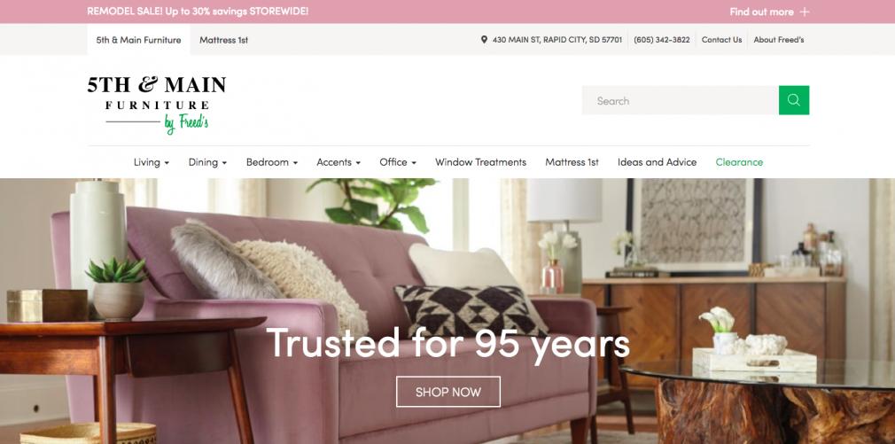 5th & Main Furniture website