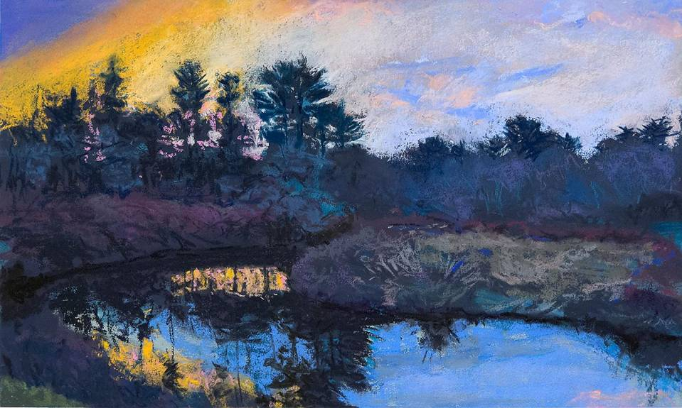 "Roy Perkinson ~ 'Early Winter on the River' ~ Pastel on Panel 12"" x 20"""