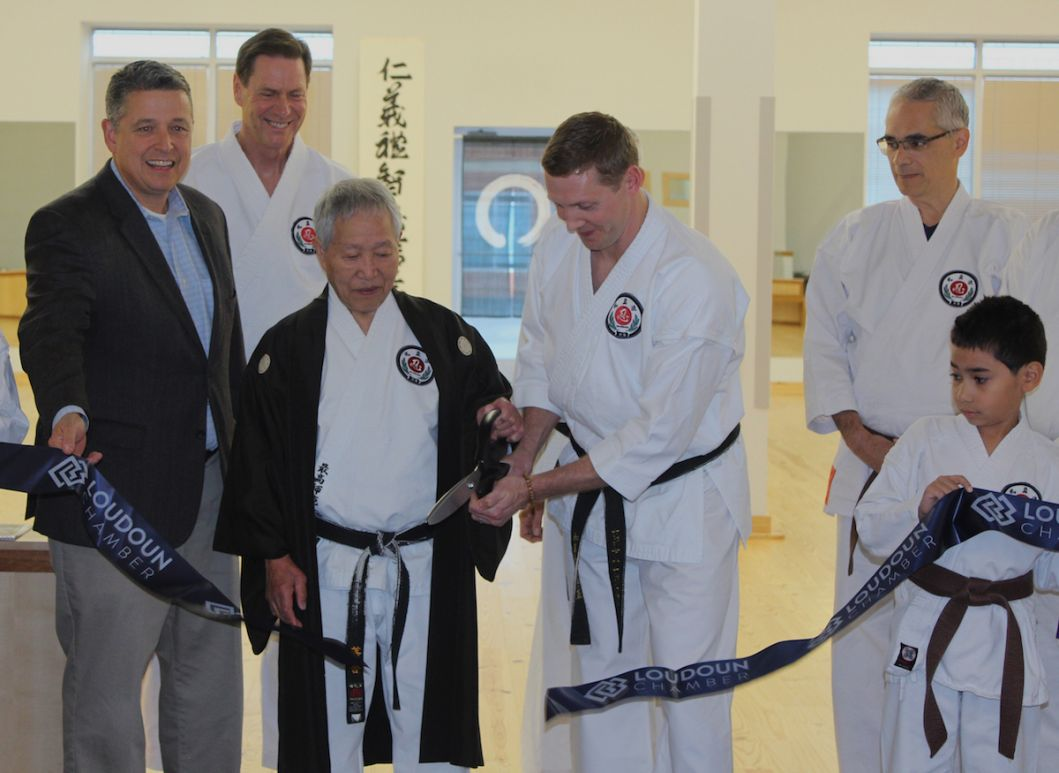 Hidy Ochiai Karate Ribbon Cutting Ashburn VA