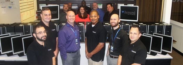The Techworks Team with the Donated Computers