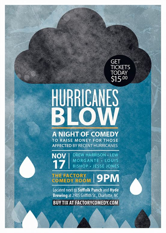 Hurricanes Blow at The Factory Comedy Room