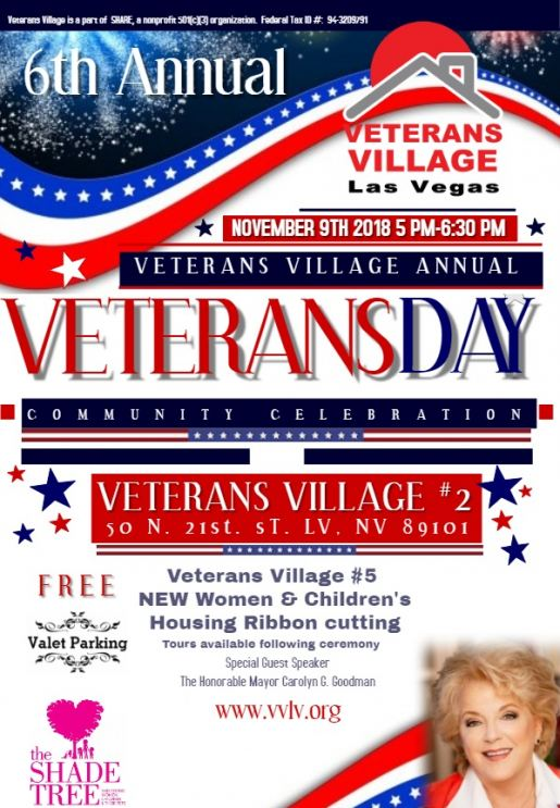 6th Annual Veterans Village Veterans Day Celebration