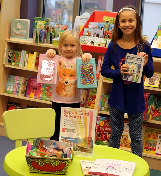 Baltimore County students Julia and Audrey enjoy Report Card Rewards