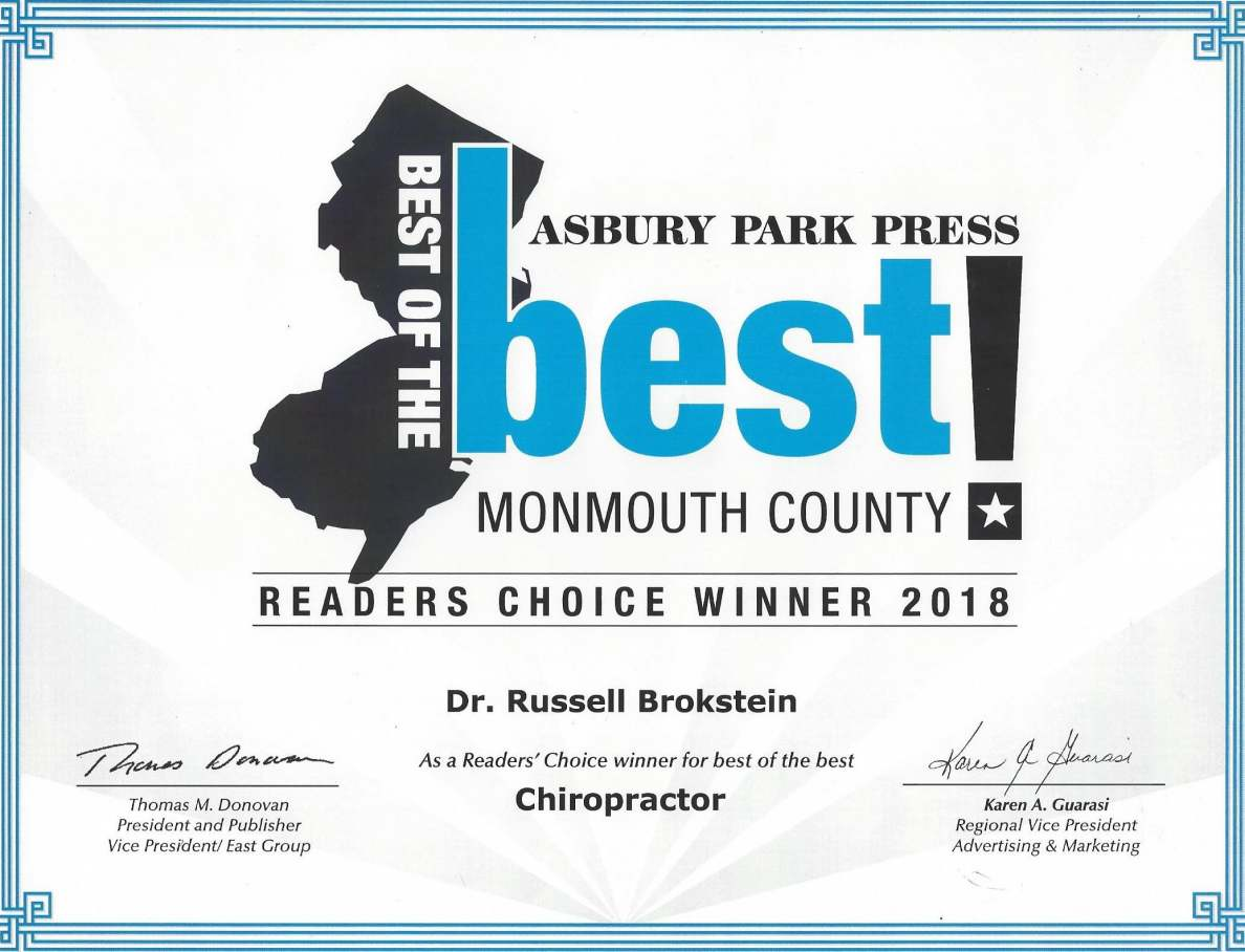Best Monmouth County Chiropractor Freehold NJ 2018