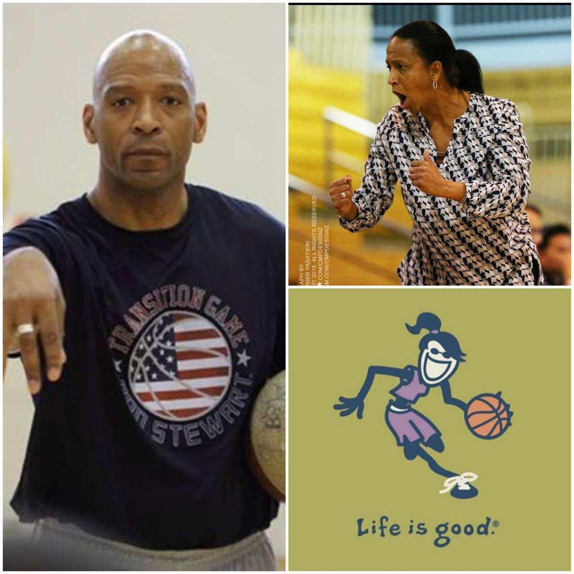 Basketball Coaches Ron Stewart & Kelley Watts