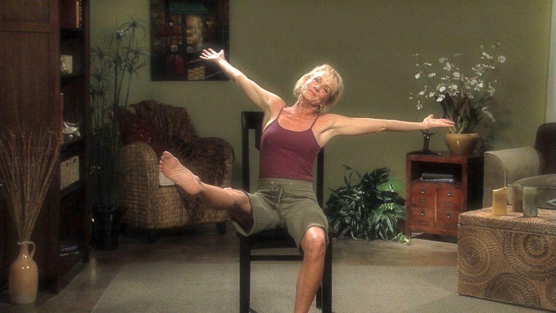 Lakshmi celebrating another chair yoga class