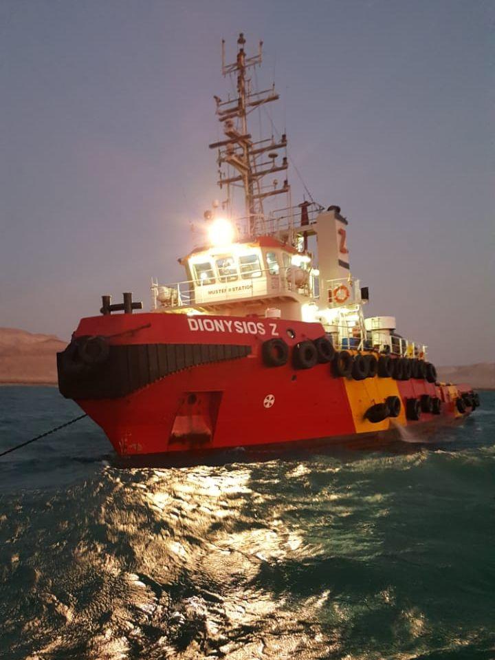 Zouros Group AHT, Dionysios Z (IMO 9586540), at Abu Rudeis, Gulf of Suez