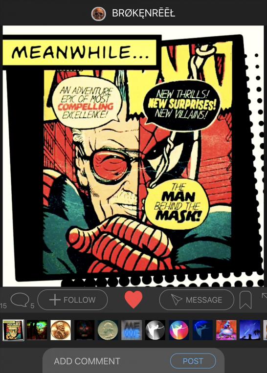 Stan Lee Tribute Looping Plotagraph on Plotaverse