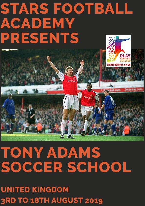 Tony Adams Soccer School 2019