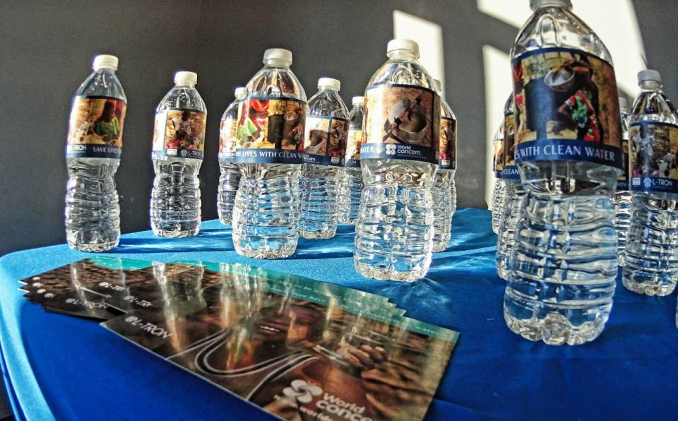 World Concern Water Bottle Donations