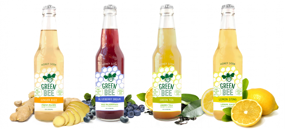 Green Bee Honey Sodas