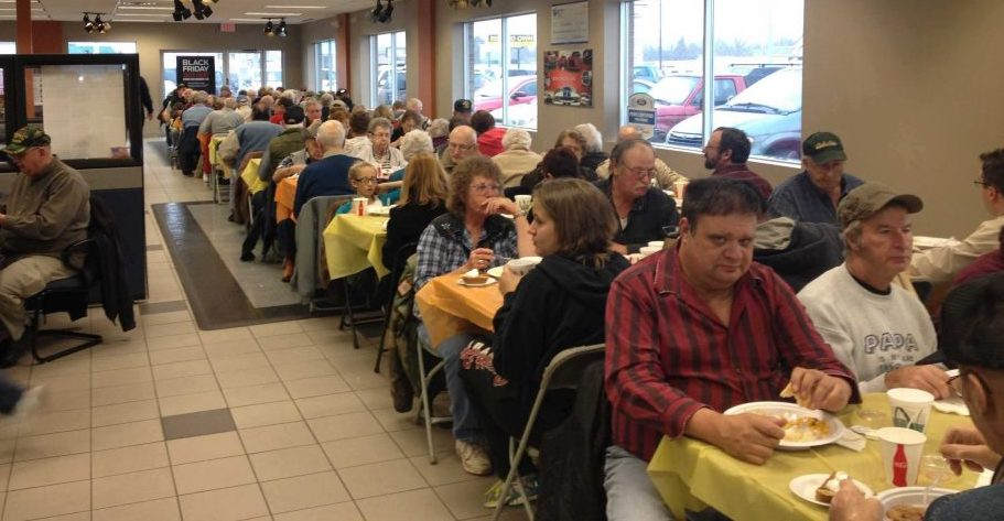 Pictured: Last Year's Thanksgiving Event At Watertown Ford Chrysler